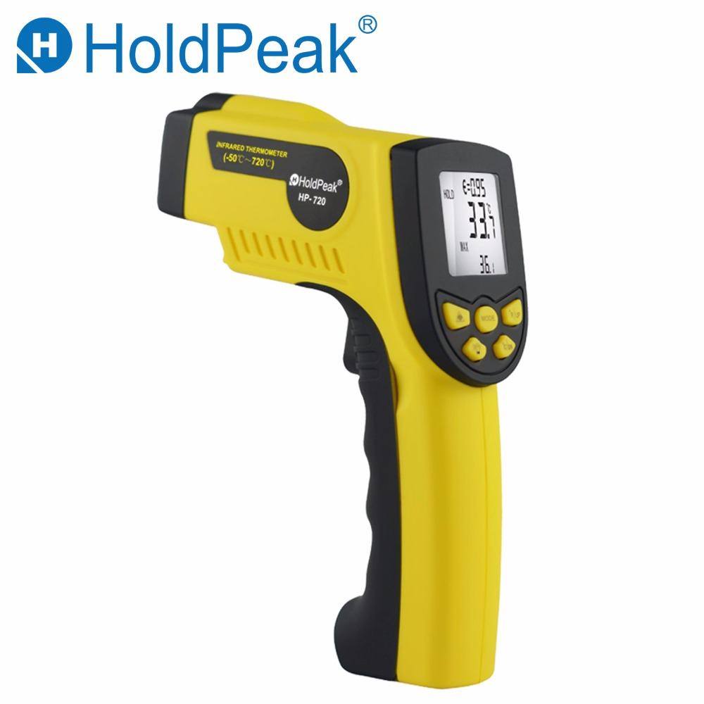 Real Weather Station HoldPeak HP 720 High Temperature Infrared Thermometer Instrumentation Non Concact Industrial Handheld Tools