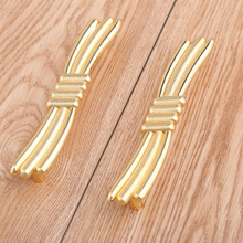 96mm Modern Fashion deluxe creative 24K gold villa furniture decoration handles bright gold drawer tv cabinet pulls knobs 3.75″