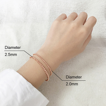 18k Gold Laser Beads Strands Bracelet 4