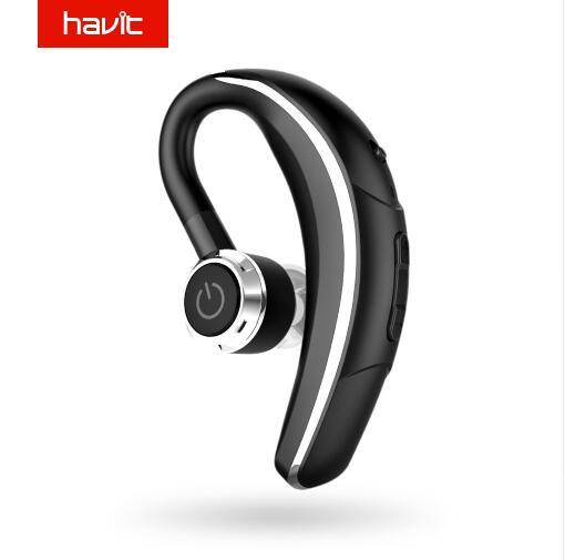 HAVIT I9 Wireless Earphones Bluetooth 4.1 Single Car Headphone 180 Rotation Earbuds with Mic Long Standby