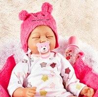 Реалистичные девушка кукла реборн 22 дюймов реалистично силиконовые Настоящее сенсорный новорожденных Игрушки с одеждой для дня рождения Р