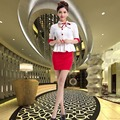 Airline Stewardess Uniform Hotel Front Short Sleeved Clothing KTV Princess Sauna Technician Occupation Baby Beauty Service