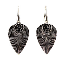 Earrings For Women Fashion Earring 2019 Ethnic Carved Vintage Jewelry Antique Silver Water Drop