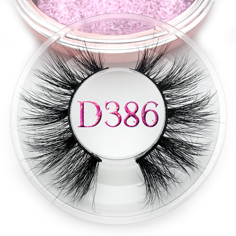 Mikiwi D386 Eyelashes 3D Mink Lashes Natural Handmade Volume Soft Lashes Long Eyelash Extension Real Mink Eyelash For Makeup
