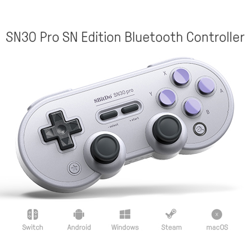 8Bitdo SN30ProG Retro Wireless Bluetooth Controller Gamepad For Nintend For Switch Joystick For Android Windows macOS 8bitdo fc30 pro wireless bluetooth controller dual classic joystick for android gamepad pc mac linux