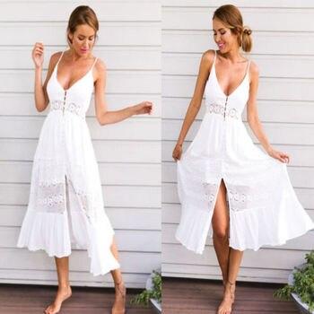 Women's White Beach Dress