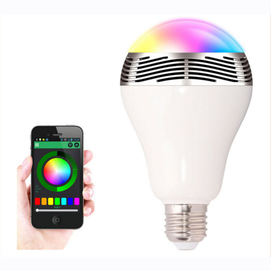 E27/B22 LED Bulbs Wireless Bluetooth Speaker Audio Speaker, 6W RGB Bluetooth 4.0 Music Playing & Lighting Smartphone APP Control