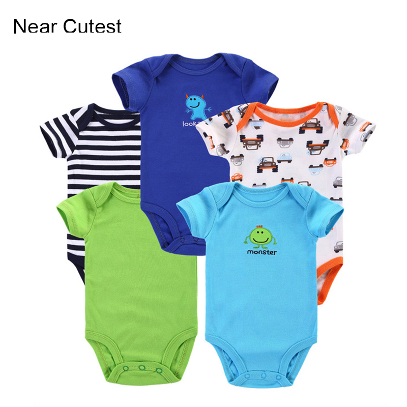 5pcs/lot 2015 Summer Baby Romper Newborn Baby Girl Boy Clothes Bebe Clothing roupas de bebe menino