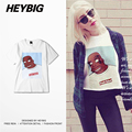 Funny Hip hop T-shirt HEYBIG Cartoon retro Tee shirt Tattoos men short-sleeve tops Fine Cotton comfortable wearing Chinese SIZE