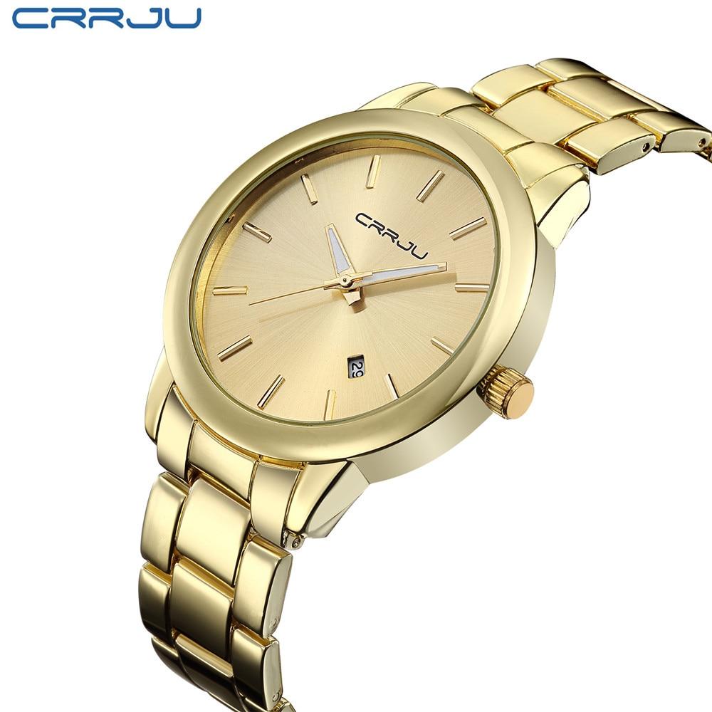 Montre Homme Relogio Women Gold Mens Watches Top Brand Luxury Clock Men Golden Watches Quartz-Watch Men Male Wrist Watch