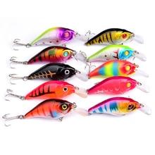 10PCS Sale Mini Fishing Crank Bait Lure 7.5cm 10.3 Swim Fishing Lure Artificial Hard Crank Bait