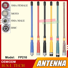 Free Shipping Handheld Walkie Talkie Antenna BNC/SMA-MALE/SMA-FEMALE 144/430MHz Dual Wide Band VHF/UHF Two Way Radio Antenna al 800 sma k vhf uhf detachable antenna for walkie talkie black