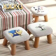 XXXG/короткий табурет для обуви для детей и взрослых с небольшим тканевым деревянным стулом, диванным табуретом, маленьким деревянным скамейкой, тканевым искусством