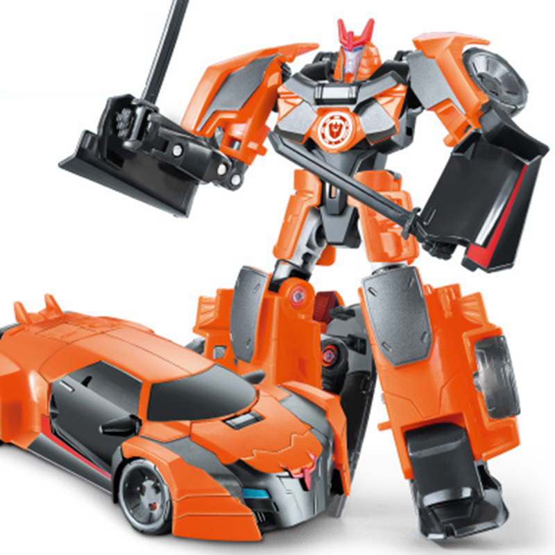 NEW Anime Action Figure <font><b>Toys</b></font> <font><b>Transformation</b></font> <font><b>4</b></font> Robot Car ABS Plastic Alloy Class Cool Model Boy <font><b>Toy</b></font> brithday Gifts image