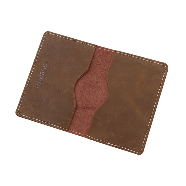 Brand Men Genuine Leather Card Holder Slim Credit Card Wallet Men's ID Covers Mini Cartera Hombre Cowhide Leather Money Case