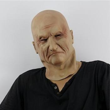 Máscara de fiesta de anciano de Navidad realista para hombre disfraz de látex disfraces de lujo cabeza de goma máscaras de adulto mascarada accesorios de Cosplay