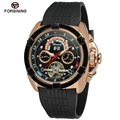 Fashion FORSINING Men Luxury Brand Rubber Casual Sports Watch Automatic Mechanical Wristwatch Gift Box Relogio Releges 2016 New