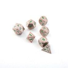 Dnd Polyhedral Metal Dice Set Rpg Dungeons And Dragons Tafelblad Game Rood Zilveren Rand Digitale Dices Dados D8 10 12 20