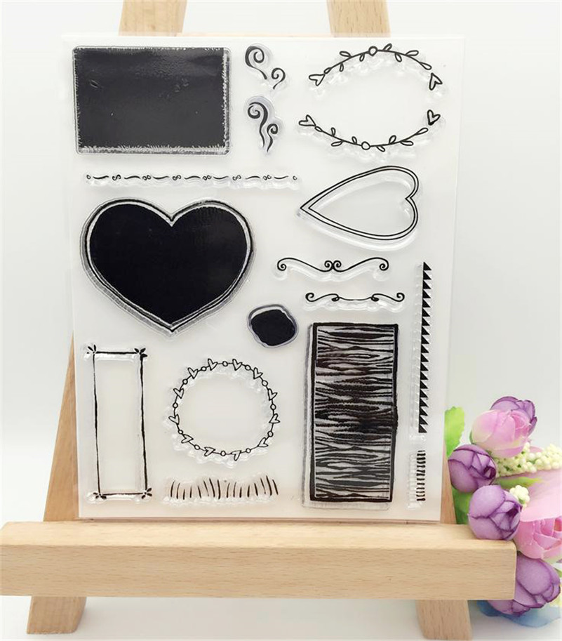 loving hear and background design clear stamp DIY for paper card wedding gift photo album transparent stamp LL-186 loving heart and angel design for diy scrapbooking photo album transparent clear silicone stamp for wedding gift cl 131
