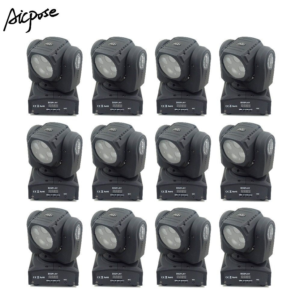 12Pcs/lots Super Beam Lights 40W Moving Head Mini LED Beam Lights Perfect For DJ Disco Party Wedding Shows Stage Light