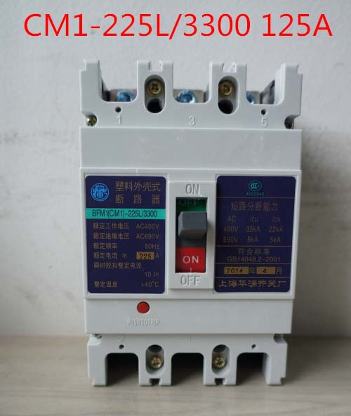 Molded case circuit breaker /MCCB/ air switch CM1-225L/3300 125A 3P variety of current optional cm1 400 3300 mccb 200a 250a 315a 350a 400a molded case circuit breaker cm1 400 moulded case circuit breaker