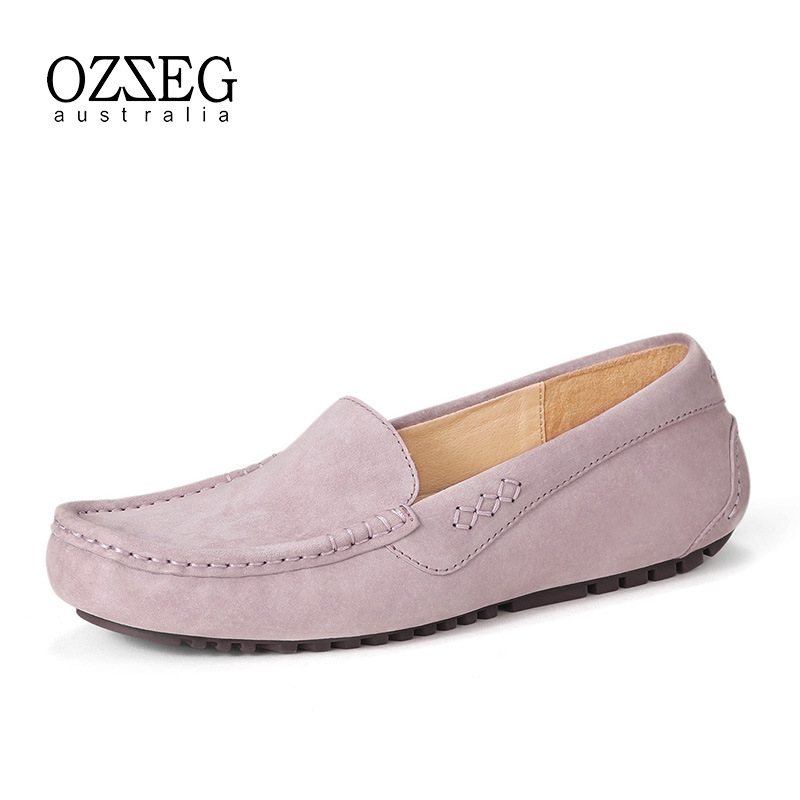2018 Casual Shoes Women Flat Loafers Slip On Flats Genuine Leather Shoes For Women Comfortable Moccasins Femal Driving Footware cresfimix zapatos women cute flat shoes lady spring and summer pu leather flats female casual soft comfortable slip on shoes