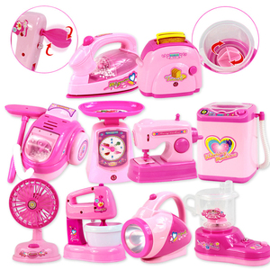 1PCS Kawaii Pretend Play Mini Simulation Kitchen Toys Light-up & Sound Pink Household Appliances Toy for Kids Children Baby Girl(China)