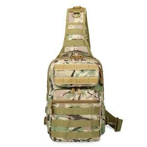 Image 4 - Chiến Thuật Túi Đeo Trước Ngực Túi Đeo Quân Đội Sling Lưng Ba Lô Camo Quân Sự Săn Bắn Túi Cắm Trại Đi Bộ Đường Dài Quân Mochila Molle Đeo Vai Gói
