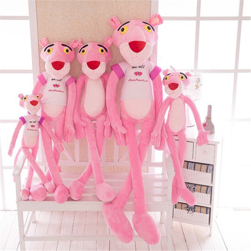 Apaffa Pink Panther baby Toys Plush Fashion Cartoon Stuffed Animals Original Dolls Children Christmas Birthday Presents BF087