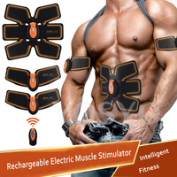 EMS Muscle Stimulator Rechargeable Electric Body Slimming Abdominal Muscles Training Machine Body Toning Arm Waist Massager Set