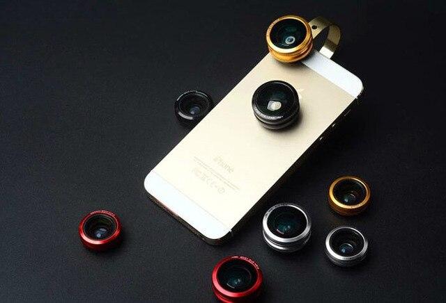 Металлическое кольцо зажим мобильного телефона объектива рыбий глаз широкоугольный объектив микро-объектив для Lenovo A1900 S60 A3900 K80 A2010 р70 A6010 A3690 A1000