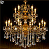 European Retro Zinc Alloy Zinc Alloy Crystal Lamp Candle Lamp Hotel Project Lighting Constant Gold Chandeliers