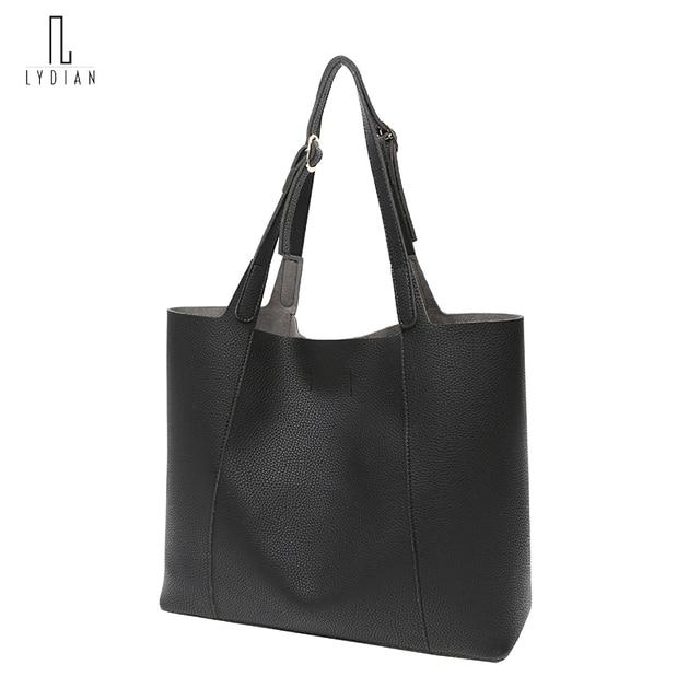 Fashion Women Totes Large Messenger Shoulder Bag Hot Vintage Black Leather Woman Handbag Unique Big Ladies Composite Bag Kabelky