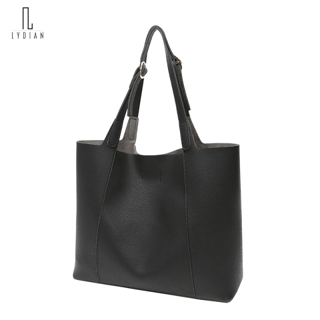 Fashion Women Totes Large Messenger Shoulder Bag Hot Vintage Black Leather Woman Handbag Unique Big Ladies Composite Bag Kabelky