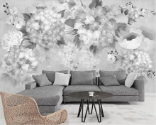 Beibehang Custom photo wallpaper mural idyllic vintage hand-painted floral sofa TV background wall papers home decor behang