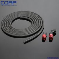 AN10 Nylon Braided Oil/Fuel Line Hose 1m/3ft+Straight + 45 Degree Swivel Fitting