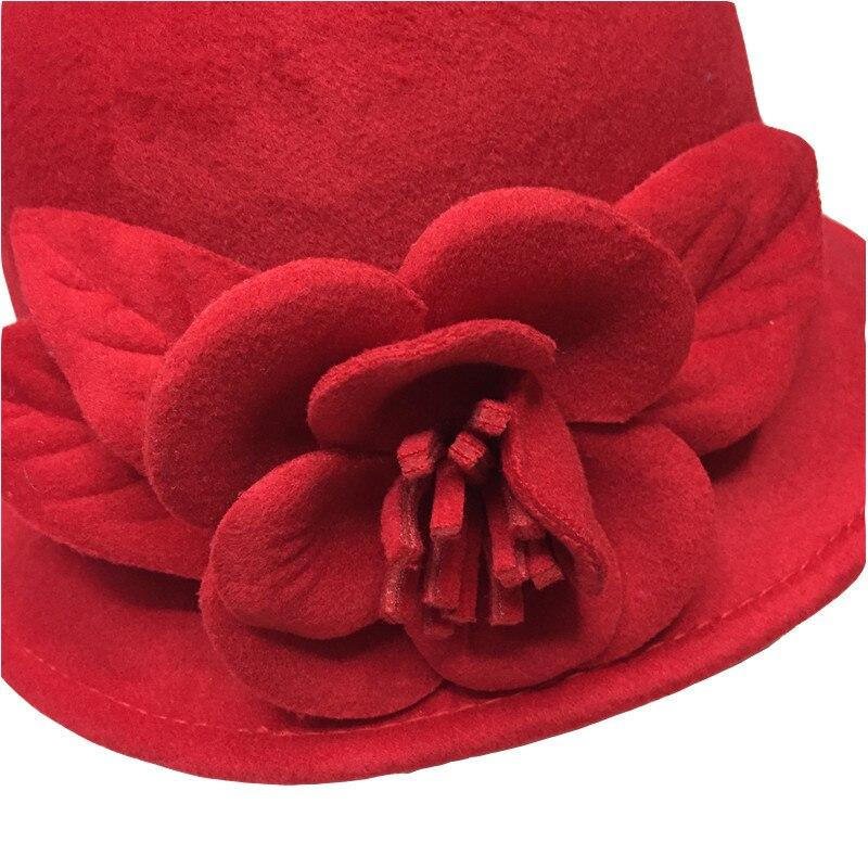 2017 autumn winter elegant ladies hats felt fedora round bowler hats 2017 autumn winter elegant ladies hats felt fedora round bowler hats red white black pink flower church vintage hats for women in fedoras from womens mightylinksfo