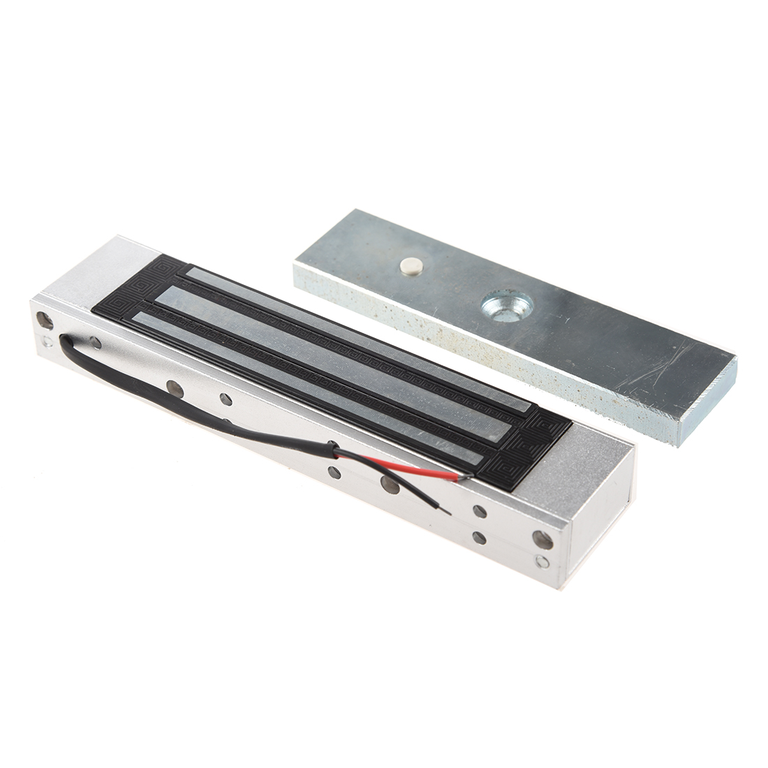 MOOL Single Door 12V Electric Magnetic Electromagnetic Lock 180KG (350LB) Holding Force For Access Control Silver