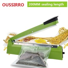 220V IMPULSE SEALER 200mm Heat Teflon Sealing Machine Impulse Bag Sealer Seal Sackholder Poly Tubing Plastic Bag Kit kitchen