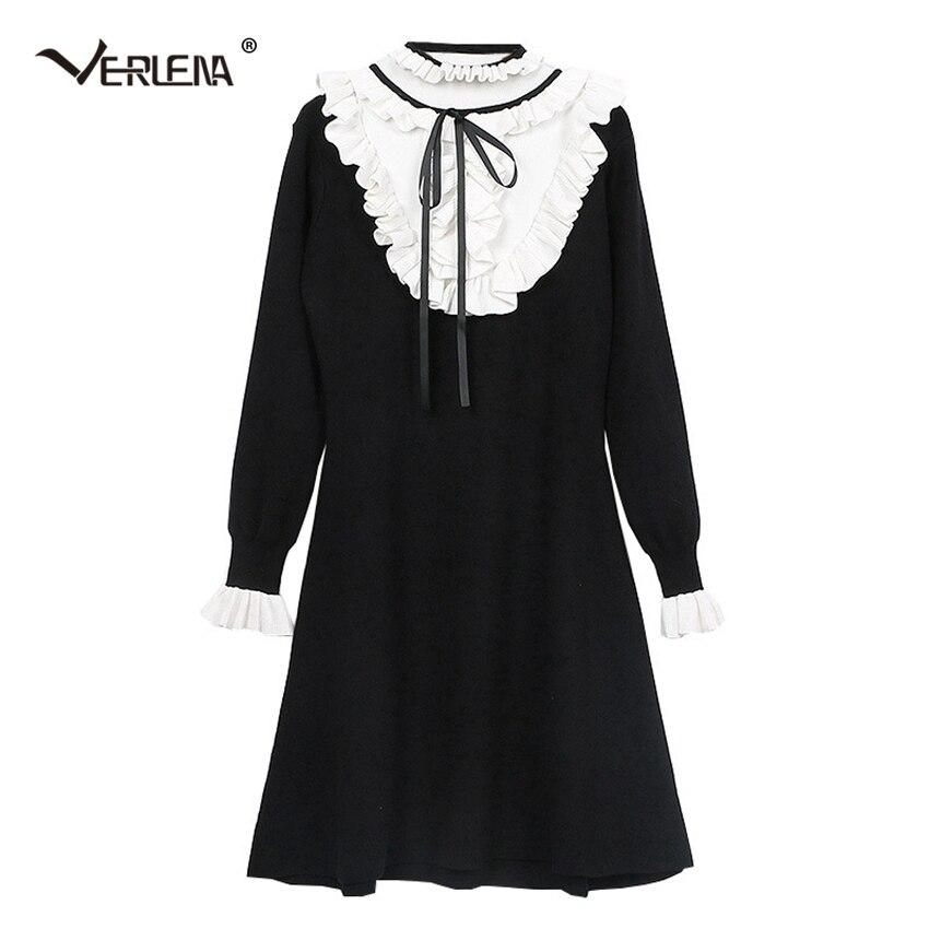 Women's Clothing 2019 Spring Lovely Pig Embroidery Women Dress Elegant Turn Down Collar T-shirt Dress Womens Dresses