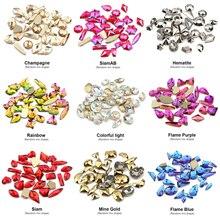 Смешанные формы 3D Стразы Украшения для дизайна ногтей хрустальные драгоценные камни ювелирные изделия блестящие камни Шарм стекло аксессуары для маникюра