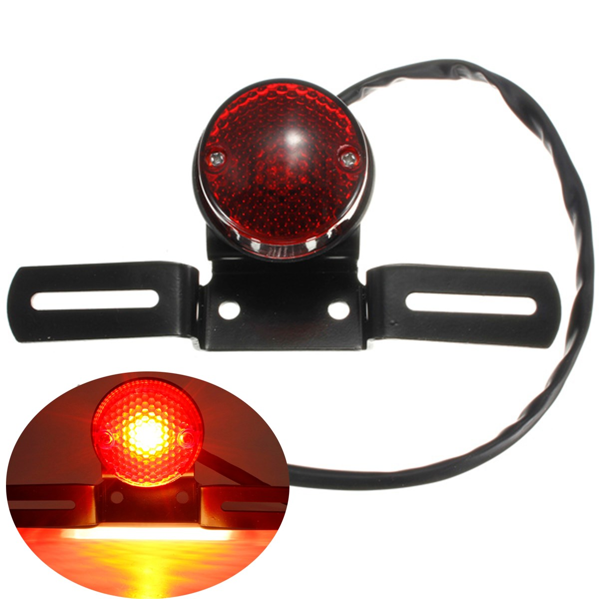 Motorcycle Bike Rear Tail Brake Stop Number Plate Light For Harley For Chopper/Bobber