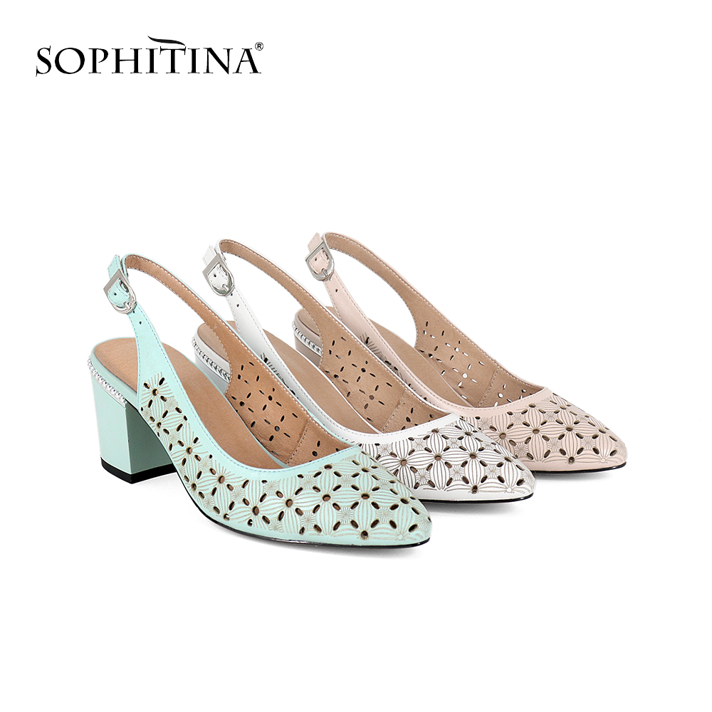 SOPHITINA Womens Sandals Career Sheepskin Solid Buckle Strap Fashion High Square Heel Shoes Handmade Back Strap Sandals SC26SOPHITINA Womens Sandals Career Sheepskin Solid Buckle Strap Fashion High Square Heel Shoes Handmade Back Strap Sandals SC26
