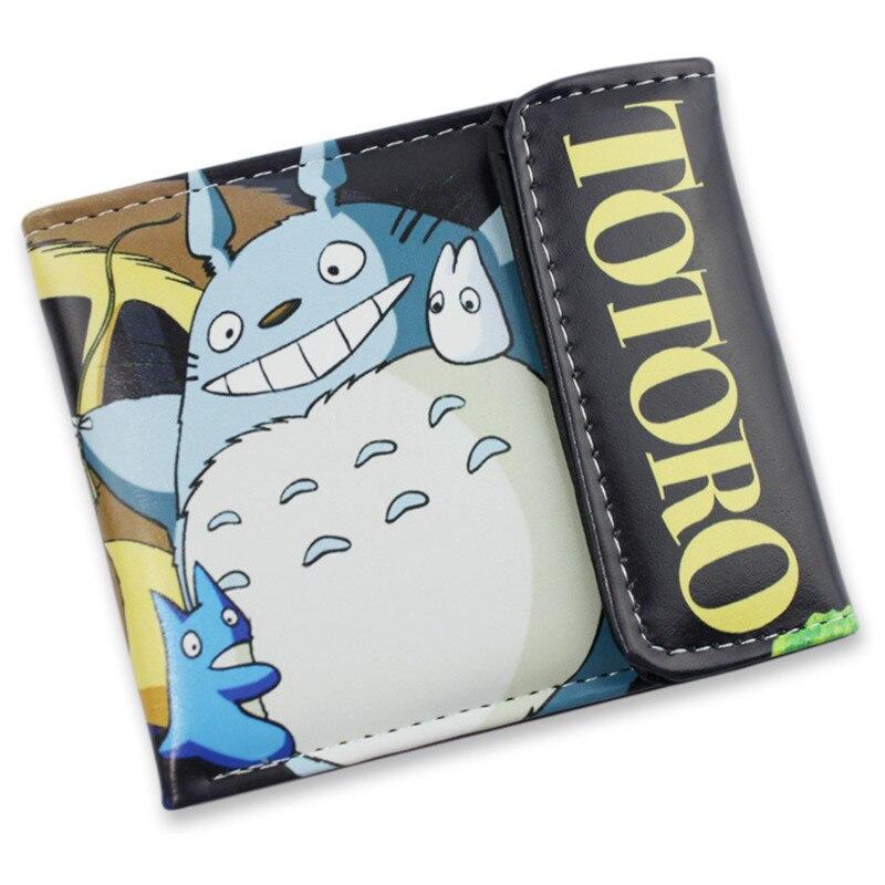 Student Cartoon Anime Purse Cool short Wallet of Sword Art Online/Attack on Titan Levi.Ackerman/Totoro/Natsume Cartoon Moneybag