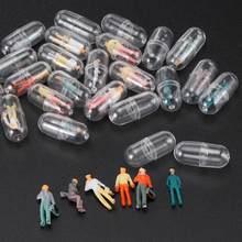 50 Pcs Recipiente Pílula Cápsula Transparente Shell Plástico Medince Casos Pílula Divisores Garrafa Cápsula Estatuetas de Acessórios DIY