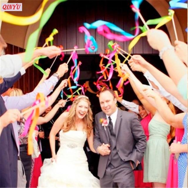 10pcs wedding ribbon wands wedding confetti stream ribbon fairy 10pcs wedding ribbon wands wedding confetti stream ribbon fairy sticks magic stick wands with bells wedding solutioingenieria Gallery