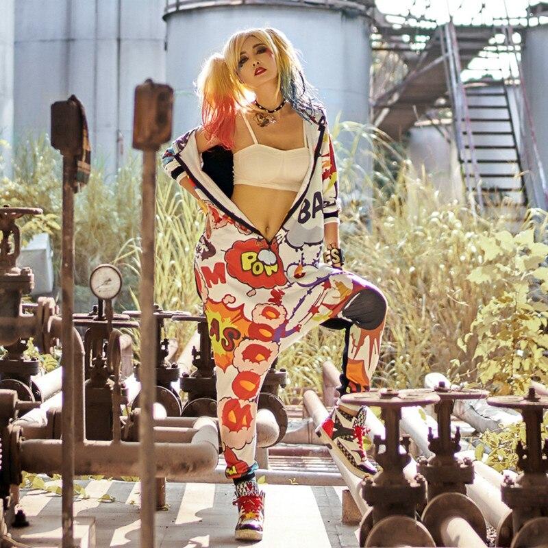 DARSJUCBD Otoño Mujer Monos Trajes Trajes Con Capucha Hip Hop Danza - Ropa de mujer - foto 2