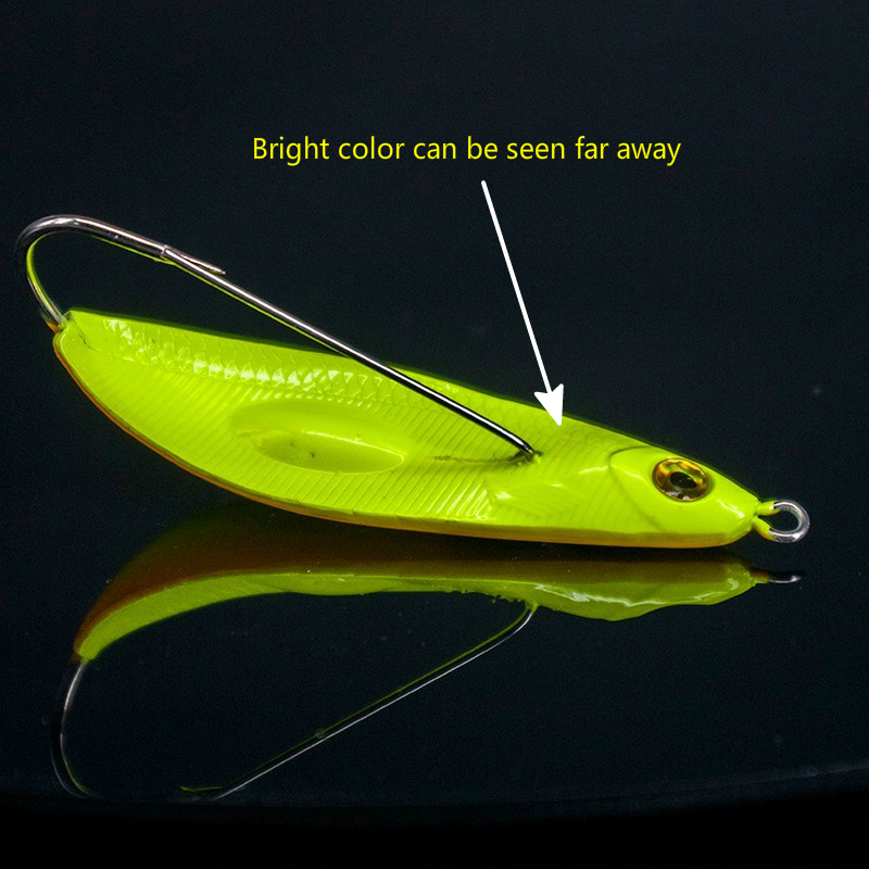Bottom Flat Fishing Lure With Weed Guard 8.5cm 20g Can Be Draged Along Sand Or Mud Bottom Single Hook Fishing Plug