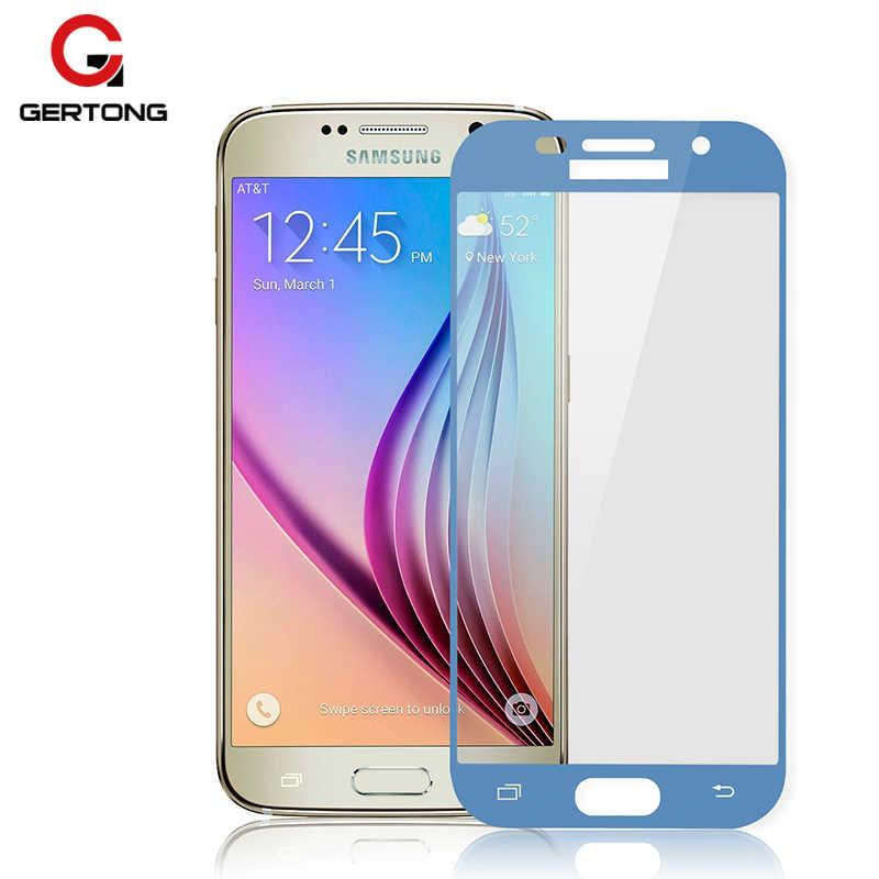 GerTong Full Cover Tempered Glass For Samsung Galaxy J7 J5 J3 2017 A90 A70 A60 A50 A40 A30 A10 A10e J4 J6 Plus Screen Protector