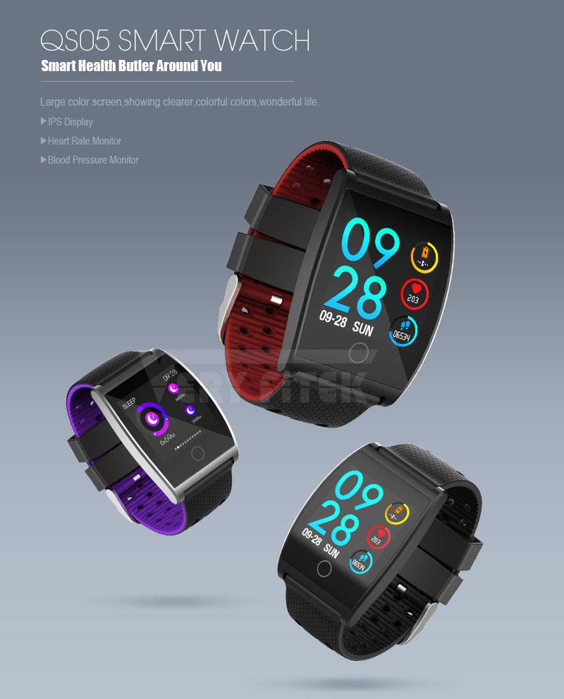 VERYFiTEK QS05 Smart Bracelet Watch Blood Pressure Oxygen Smart Band Heart Rate Monitor Wristband Pedometer Fitness Bracelets  (1)